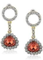 Jean Pierre Women's Stud Earrings Gold-Plated 66 Swarovski Crystals 42 MM HEJE15101 TT White