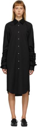 Comme des Garcons Black Cut-Out Sleeve Short Dress