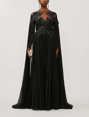 ZUHAIR MURAD Pamplona draped embellished silk gown
