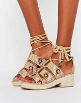 Asos TAHITI Embroidered Sandals