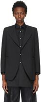 Thumbnail for your product : Comme des Garçons Comme des Garçons Black Half Collar Blazer