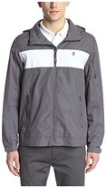 Izod Men's Chest Stripe Jacket with Hood