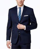 Alfani Men's Traveler Navy Solid Slim-Fit Jacket, Only at Macy's