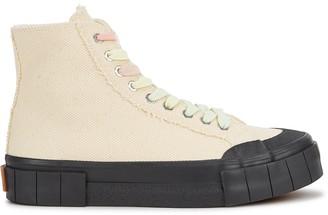 Good News Juice Cream Canvas Hi-top Sneakers