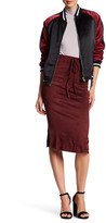 Honey Punch Faux Suede Midi Skirt