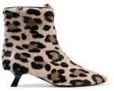 Tom Ford Leopard-print Calf Hair Ankle Boots - Leopard print