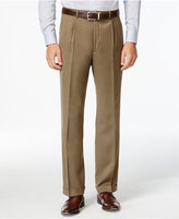 Lauren Ralph Lauren Tan Solid Pleated Dress Pants
