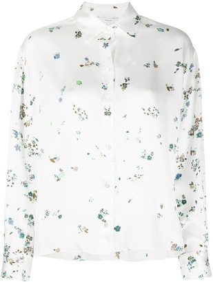 Vince Scattered Floral-Print Shirt