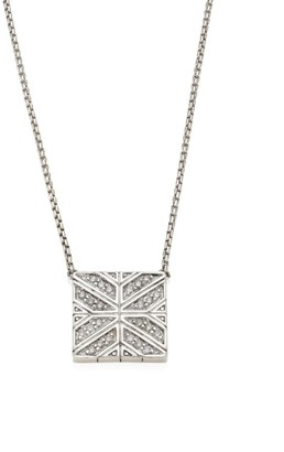 John Hardy Modern Chain Diamond & Sterling Silver Pendant Necklace