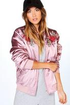 Boohoo Boutique Ella Rose Embroidered Bomber