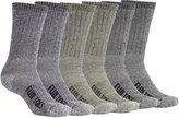 FUN TOES Men's Merino Wool Socks 6 PAIRS Value- Lightweight,Reinforced-Size