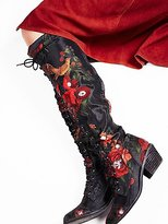 Jeffrey Campbell Floral Joe Lace Up Boot by at Free People