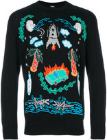 Diesel illustrated graphic sweater