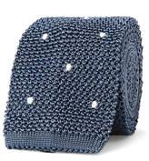 Boglioli 6cm Embroidered Knitted Silk Tie