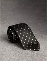 Burberry Modern Cut Polka-dot Silk Tie