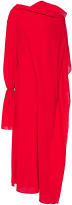 Roland Mouret Draped Wool-crepe Maxi Dress