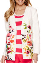 Liz Claiborne Long-Sleeve Swing Printed Jacket