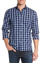 Fred Perry Men's Extra Trim Fit Herringbone Check Woven Shirt