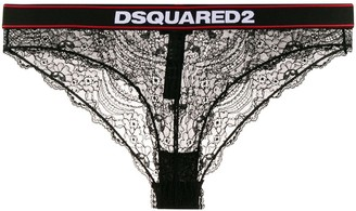 DSQUARED2 lace logo waistband briefs