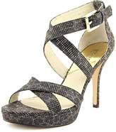MICHAEL Michael Kors Evie Platform Women US 8.5 Black Platform Heel