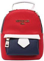 Nicole Lee Red Color Block Elodie Mini Backpack