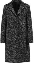 MSGM Two-Tone Wool-Blend Fleece Coat