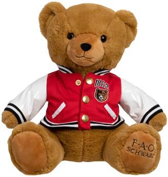 Fao Schwarz 12-inch Toy Plush Anniversary Bear with Varsity Jacket 2019