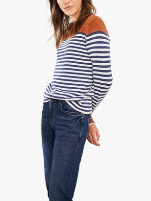 White Stuff Sunday Stripe Jumper, Blue/Multi