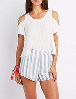 Charlotte Russe Strappy Cold Shoulder Top
