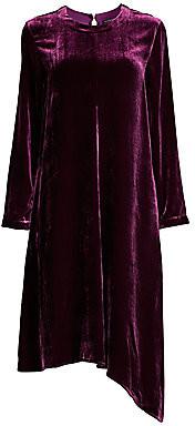 Eileen Fisher Women's Velvet Asymmetric Long-Sleeve Dress