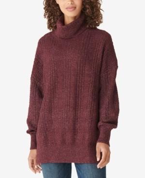 Lucky Brand Textured Stitch Turtleneck Sweater