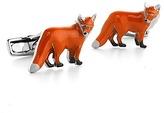 Aspinal of London Sterling Silver & Enamel Fox Cufflinks