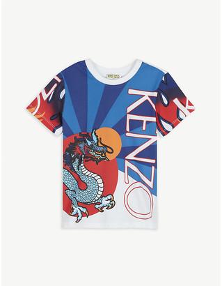 Kenzo Dragon print cotton T-shirt 4-14 years