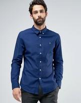 Farah Shirt In Dark Chambray Slim Fit