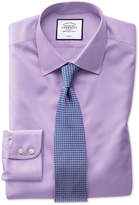 Extra Slim Fit Non-Iron Light Lilac Twill Cotton Formal Shirt Single Cuff Size 14.5/33
