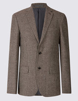 Marks And Spencer Wool Rich Basket Weave Jacket