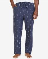 Nautica Men's Anchor Print Lightweight Sueded Fleece Pajama Pant