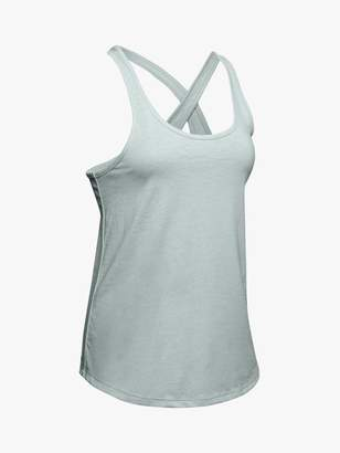 Under Armour Crossback Training Tank Top, Atlas Green/Tonal
