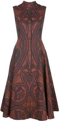 ADAM by Adam Lippes paisley print flared dress