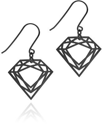 Myia Bonner Black Classic Diamond Earrings