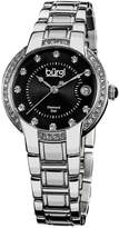 Burgi Women's Stainless Steel Diamond Watch