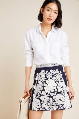 Maeve Liesl Fringed Mini Skirt