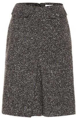 Victoria Beckham High-rise pleated virgin wool miniskirt