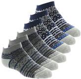 Skechers Boys' S108807 6-Pack 1/2 Terry Low Cut Socks