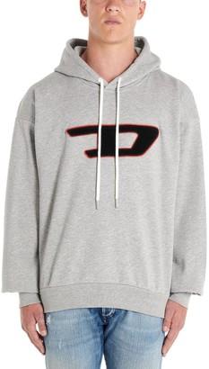 Diesel D Sponge Logo Patch Hoodie