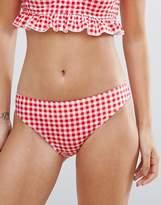boohoo Gingham Bikini Brief
