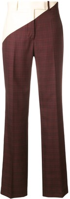 Calvin Klein Checked Print Tailored Trousers