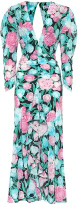 Rixo Paloma floral silk maxi dress