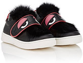 Fendi Monster Eyes Leather Sneakers-BLACK, PINK, WHITE