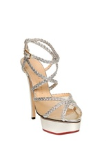 Charlotte Olympia 150mm Isadora Metallic Leather Sandals